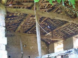 detalle de techumbre de la ruina