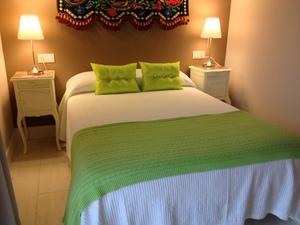 habitación matrimonial del apartamento Hortensia ( Hospital de Villahormes)