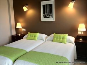 habitación doble del apartamento Hortensia