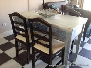 mobiliario antiguo para unos modernos apartamentos rurales